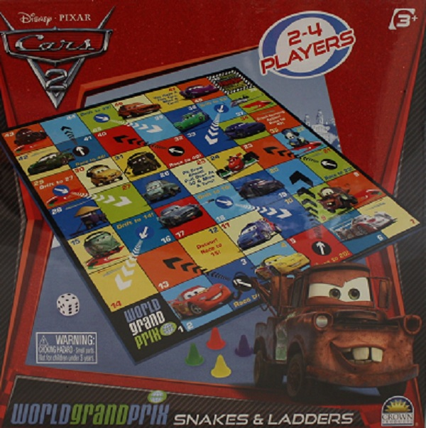 Disney Pixar Cars 2 World Grand Prix Snakes & Ladders