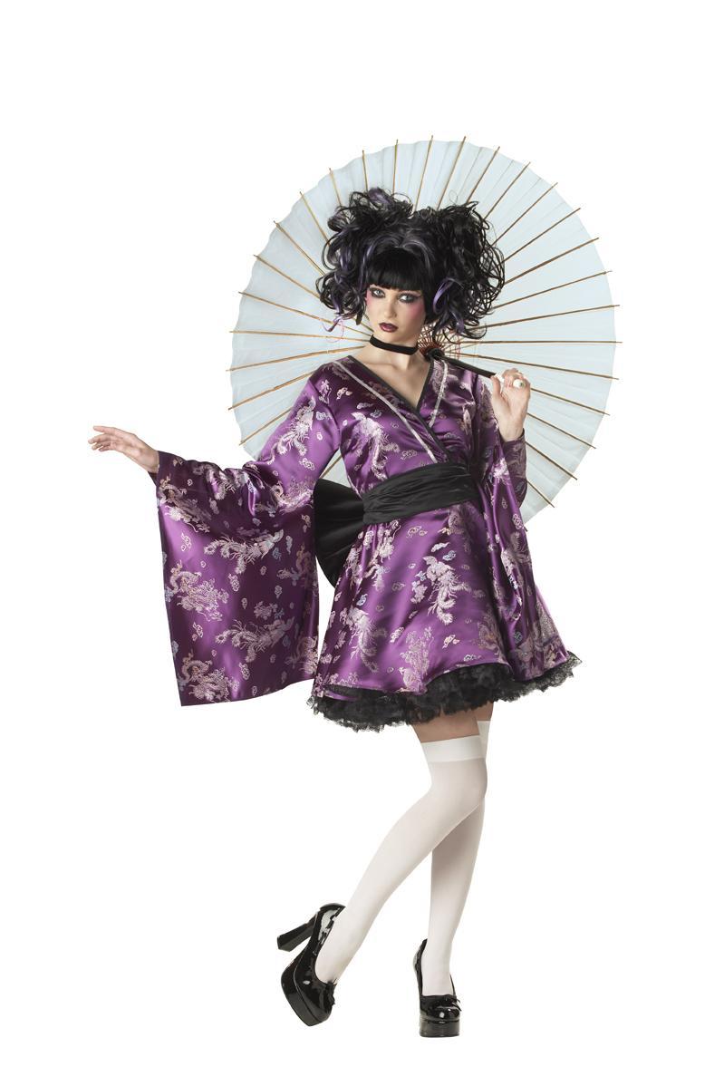 Lovely lolita japanese geisha kimono teen costume