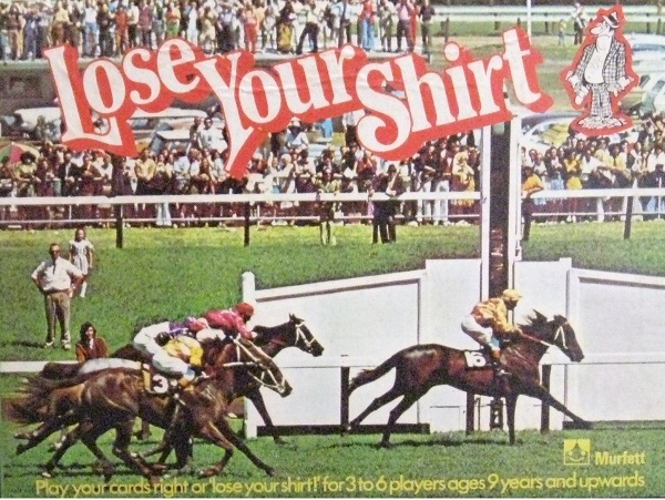 Lose Your Shirt Horse Racing Board Game Team Toyboxes