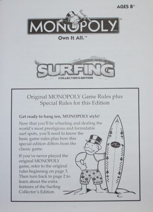 Monopoly Surfing Instructions Team Toyboxes
