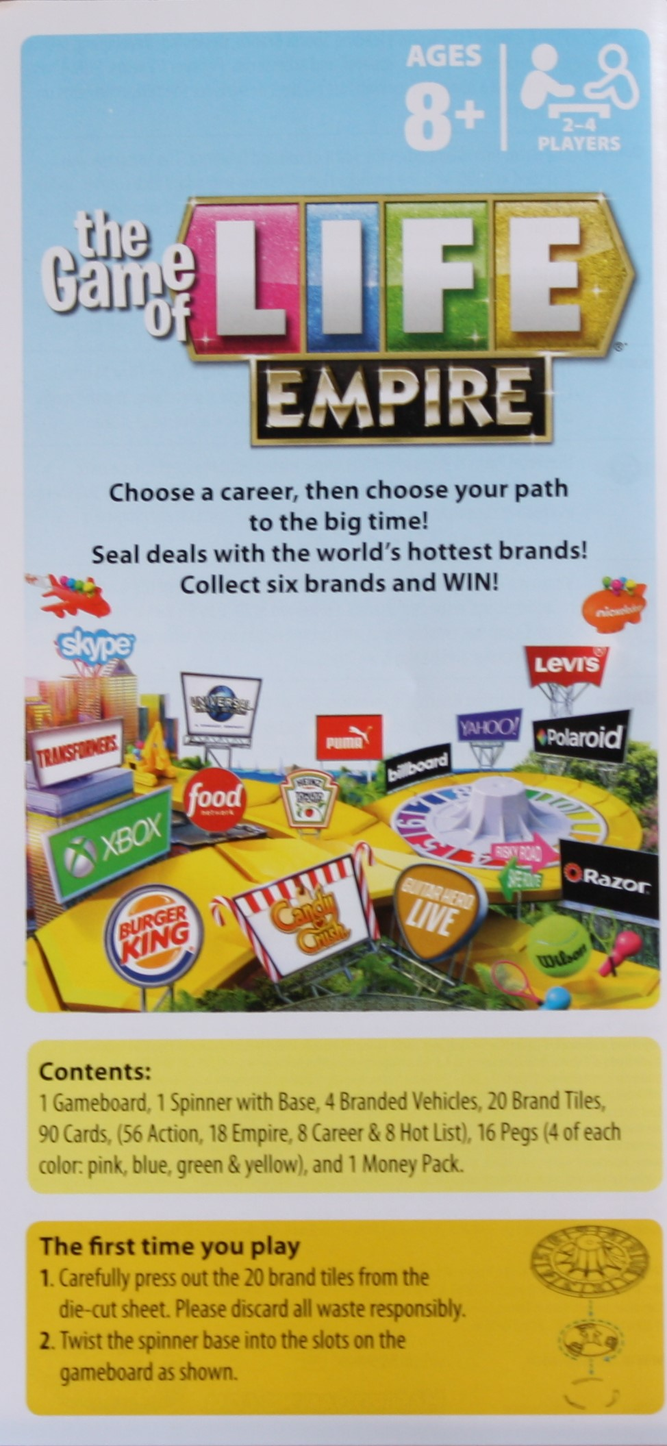 The Game Of Life Empire Board Game Game Guide